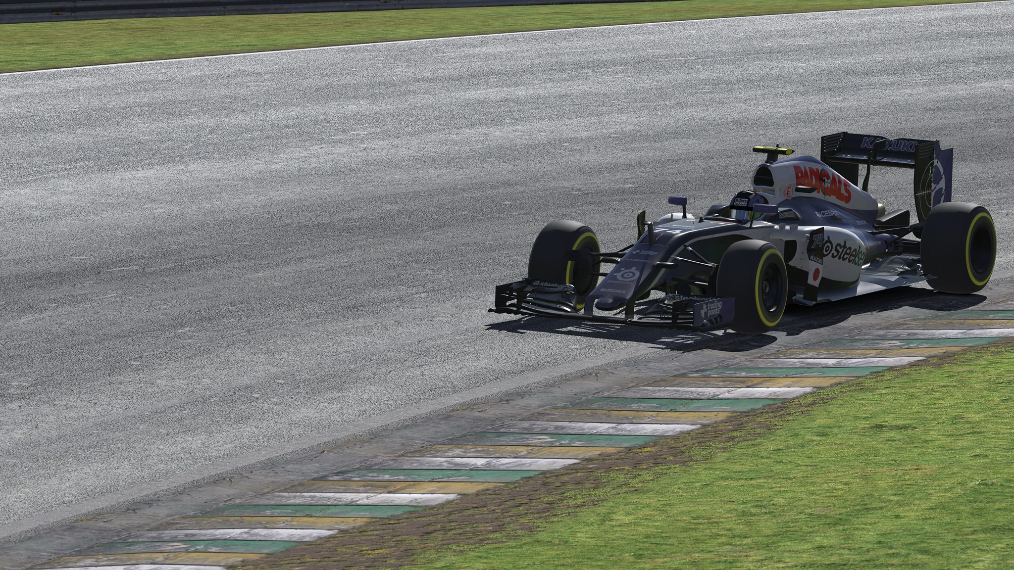 Kazuki getting to grips with the Brazilian tarmac